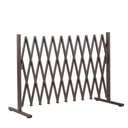 Image of Expandable Metal Steel Safety Gate Trellis Fence Barrier Traffic Indoor Outdoor