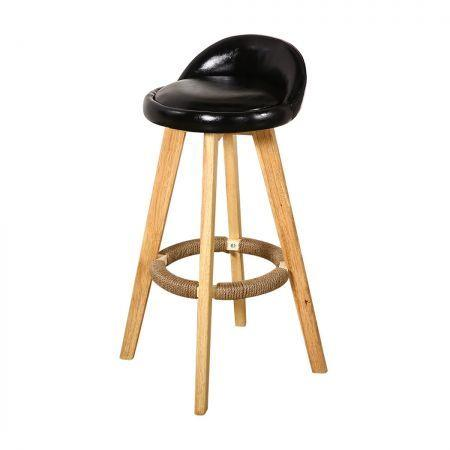 Image of 2x Levede Leather Swivel Bar Stool Kitchen Stool Dining Chair Barstools Black