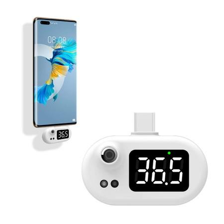 Image of Mobile Phone Thermometer LED Digital Display No Contact, Fast Measurement Suitable for TYPE C