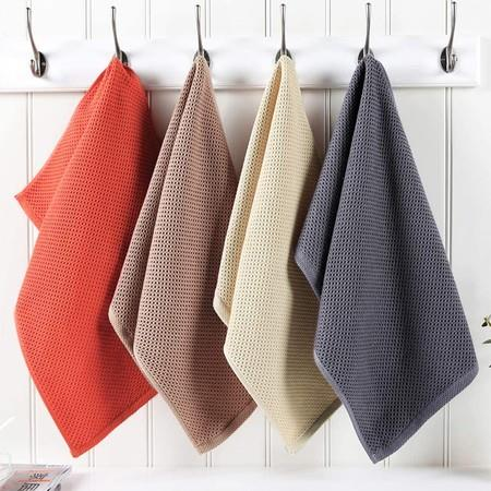 Image of 100% Cotton Waffle Weave Kitchen Dish Towels, Ultra Soft Absorbent Quick Drying Cleaning Towel, 13x28 Inches, 4-Pack, Mixed Color