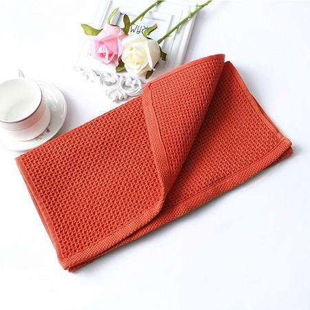 Image of 100% Cotton Waffle Weave Kitchen Dish Towels, Ultra Soft Absorbent Quick Drying Cleaning Towel, 13x28 Inches, 4-Pack, Brick Red
