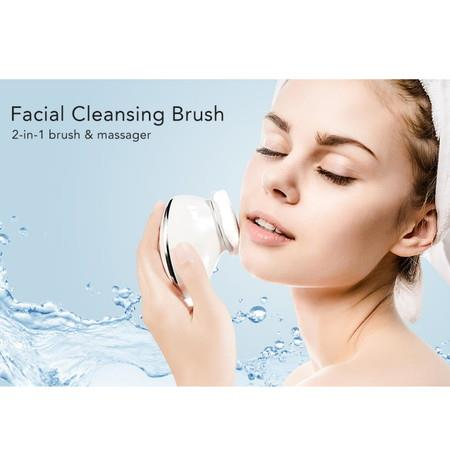 Image of 2021 Cleanse & Heated Massager Sonic Vibrations Facial Cleansing Brush