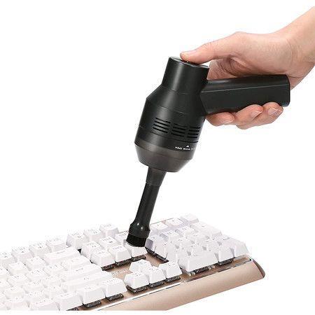 Image of Rechargeable Mini Vacuum Cordless Vacuum Desk Vacuum Cleaner (Black
