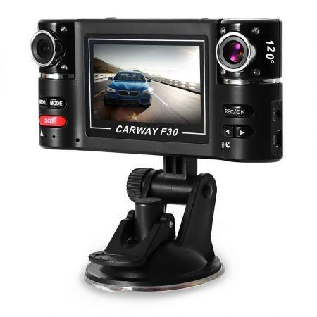 Image of F30 2.7 inch Car DVR Camera Video Driving Recorder HD Dual Lens Dashboard Vehicle Camcorder