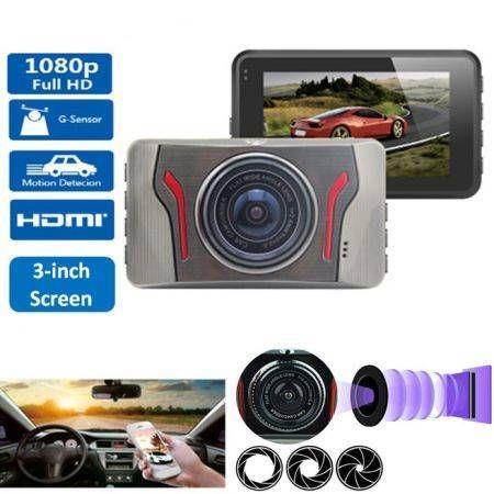 "Image of 3"" Full HD 1080P Car DVR Video Camera Recorder Dash Cam Dashboard G-sensor"