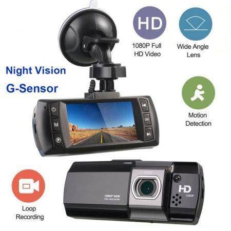 "Image of 2.7"" 1080P LCD Dash Cam DVR Car Video Camera Recorder Night Vision G-Sensor Crash"