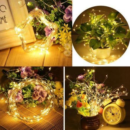 Image of 10m 100LED Copper Wire Dimmable USB LED Fairy String Lights Remote Control Christmas Lights