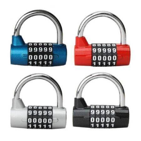 Image of 5 Digit Dial Combination Code Number Lock Padlock For Luggage Zipper Bag