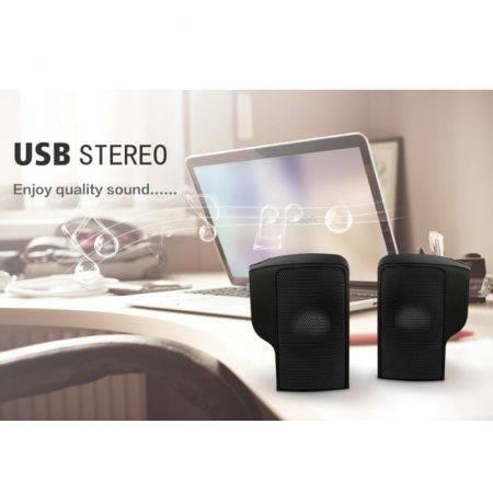 Image of 1 Pair Mini Usb Stereo Speakers Line Controller