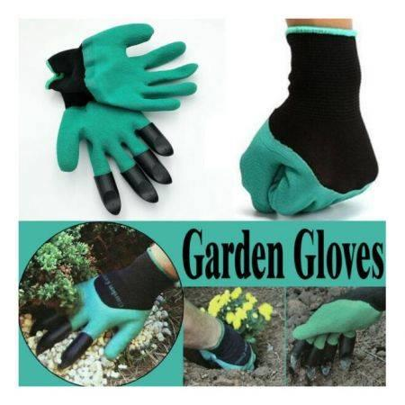 Image of 2 pairs Breathable Garden Household Gloves Waterproof Non-Slip Beach Protective For Digging