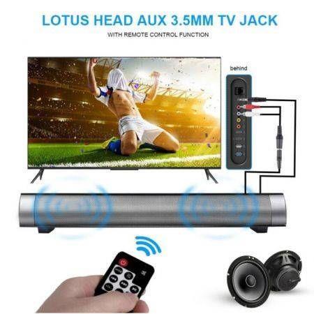 Image of Wireless Bluetooth Speaker Soundbar LP-08 HIFI Box Subwoofer Boombox Stereo Black