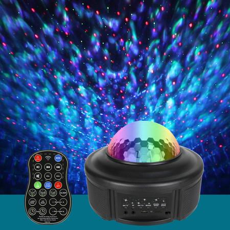 Image of 2021 Star Projector Night Light Projector with LED Galaxy Ocean Wave Projector Bluetooth Music Speaker