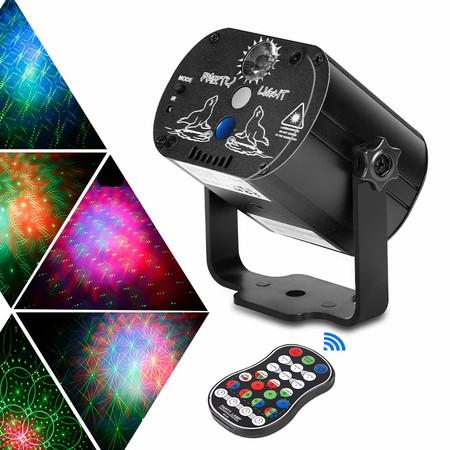Image of Party Lights DJ Disco Stage Laser Lights Sound Activated Led Projector with Remote Control