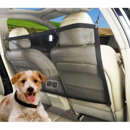 Image of Vehicle Travel Pet Dog Car Back Seat Net Mesh Barrier