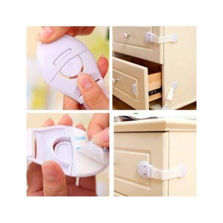 Image of 10Pcs Kids Baby Child Pet Proof Door Fridge Cupboard Cabinet Drawer Safety Locks