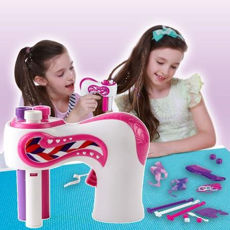 Image of Automatic Hair Braider Electric Rollers Hair Braider Hair Braiding Machine Girls Automatic Hair Braiding Device Electric Quick Twist Hair Braider Machine Styling
