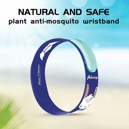 Mosquito Insect & Bug Repellent Wristband - Waterproof, Outdoor Pest Repeller Bracelet w/Natural Essential Oils (rabbit)