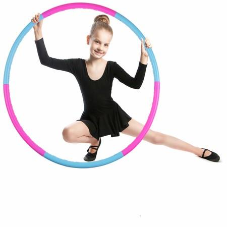 Image of Kids Hoola Hoop Detachable & Size Adjustable, Professional Weighted Colorful Hoola Hoop,Premium Quality Professional Hula Rings for Kids,Gymnastics,Adults Fitness,Girls,Boys