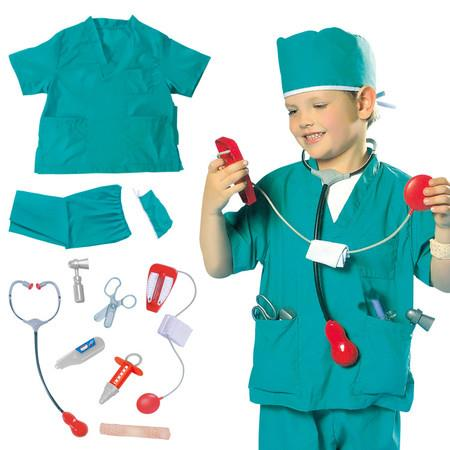 Image of Kids Surgeon Costume Set and Accessories Role play 3-7years old