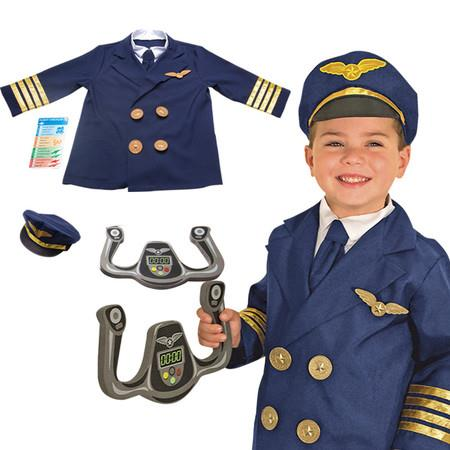 Image of Children's Pilot Role Play Costume Pretend Dress up Role Play 3-6 years old
