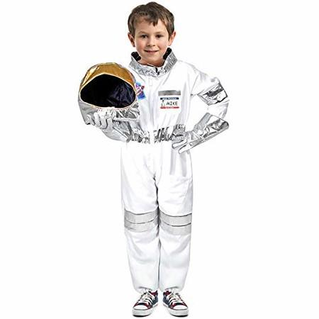 Image of Children's Astronauts Costume Space Pretend Dress up Role Play 3-6years old