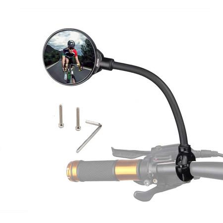 Image of Bike Mirror Rotatable And Adjustable Wide Angle Rear View Shockproof Convex Mirror Universal For Bike Bicycle