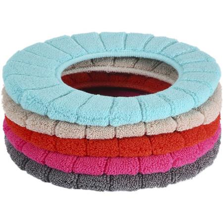 Image of 5 Pcs Thicker Bathroom Soft Toilet Seat Cover Pads (5 Random Color)