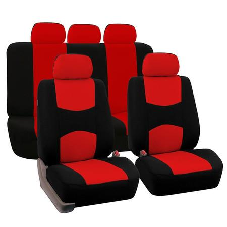 Image of Car Seat Covers Universal Fit for Auto Truck Van SUV(Red/Black)