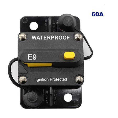 Image of 60A AMP Circuit Breaker Fuse Reset 12-48V DC Car Boat Auto Waterproof