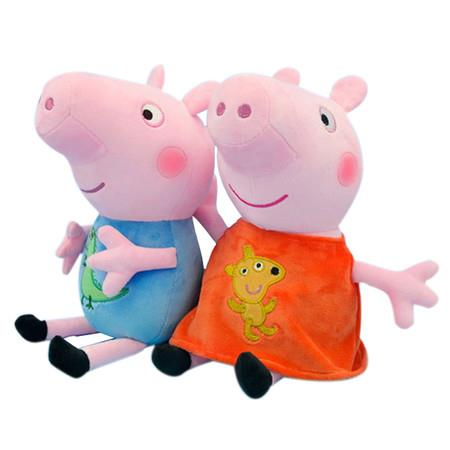 Image of 2x30cm Peppa and George Pig Cartoon Anime figure Doll Party Girl Toy Child Birthday Gift