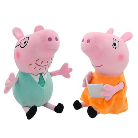 Image of 2x30cm Peppa Mom and Dad Pig Cartoon Anime figure Doll Party Girl Toy Child Birthday Gift