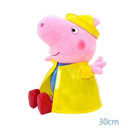 Image of 30cm George Pig Jumping in the Mud Pit Raincoat Doll Party Girl Toy Child Birthday Gift
