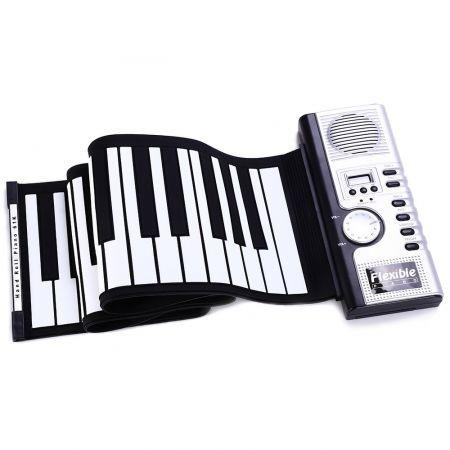 Flexible 61 Keys Soft Portable Electric Digital Roll-up Keyboard Piano