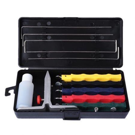 Molibao Professional Knife Sharpener Kitchen Sharpening System with 5 Stone Version