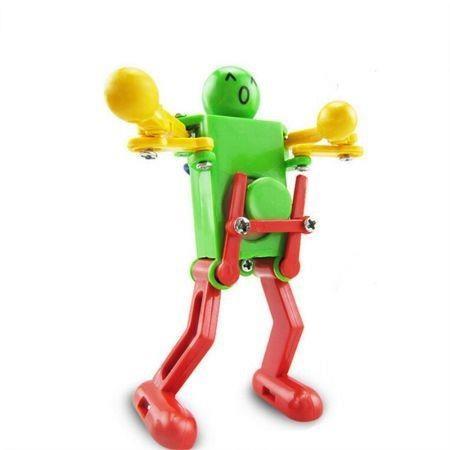 Image of Colorful Clockwork Spring Wind up Dancing Walking Robot Toy