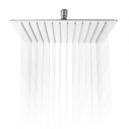 Image of 12 inch High Pressure Ultra Thin 201 Stainless Steel Square Rain Shower Head
