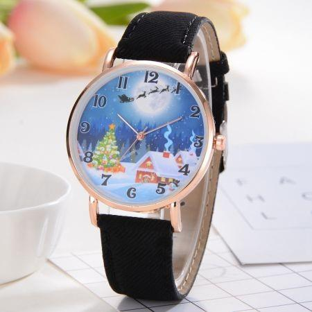 Image of XR2496 Christmas Series Analog Quartz PU Leather Quartz Watch for Women