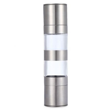 Image of 2 in 1 Manual Stainless Steel Pepper Salt Mill Grinder Kitchen Accessory