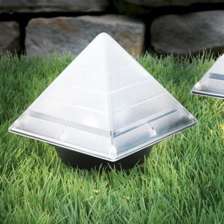Image of BRELONG Sensor Solar Ground Lights Pyramid Shaped Underground Buried Light Outdoor Garden Lawn Path Lamp 1PC