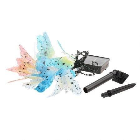 Image of Solar Powered Butterfly LED String Light Outdoor Decoration