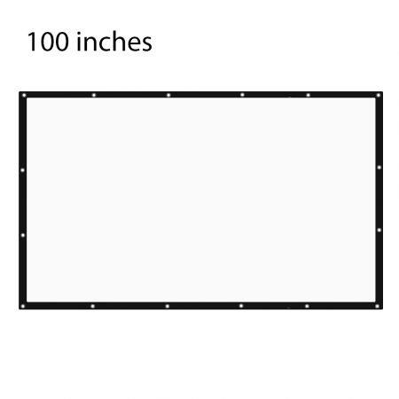Image of 100 inch 16:9 Portable Tabletop Projector Screen