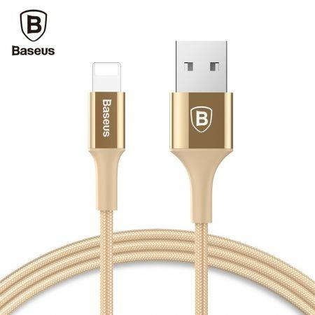 Image of Baseus Shining 8 Pin Cable Charging Data Cord with Jet Metal
