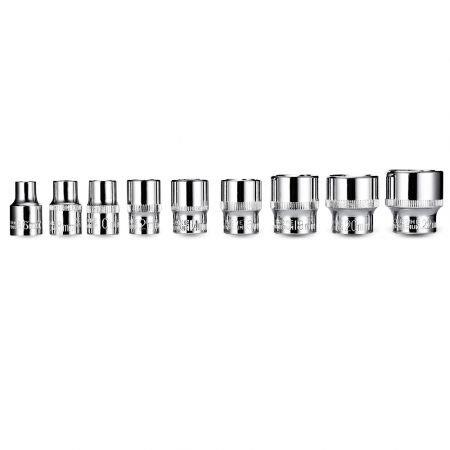 Image of 19PCS 3/8 inch Sockets and Ratchet Wrench for Car Repairing Tire Disassembly