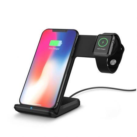Image of 2 in 1 Fast Charging Wireless Charger Stations for Apple Watch / iPhone X / 8 Plus