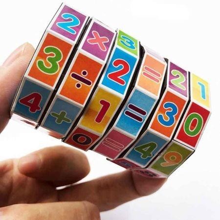 Image of Cylindrical Six-order Cube Math Early Childhood Educational Toys