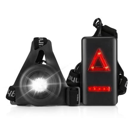 Image of 20M Lighting USB Charging Night Running Sports LED Light with Red Taillight