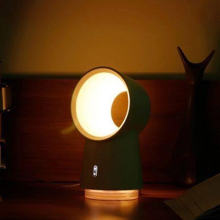 Image of 3 in 1 Mini Night Lamp Bladeless Desktop Fan Mist Humidifier