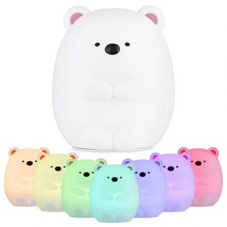 Image of JM - 03 LED Rechargeable Silicone Bear Night Light for Bedroom