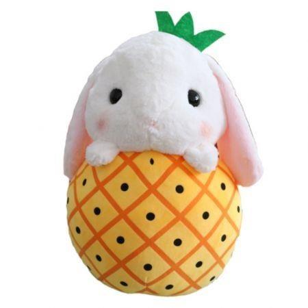Image of Cute Rabbit Fruit Plush Doll