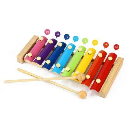 Image of Kid Wooden 8 Notes Musical Toys Hand Knock Xylophone Educational Toys